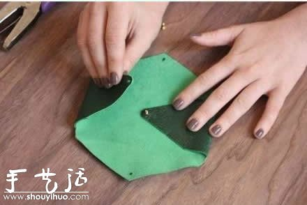 皮革diy女式零钱包的教程