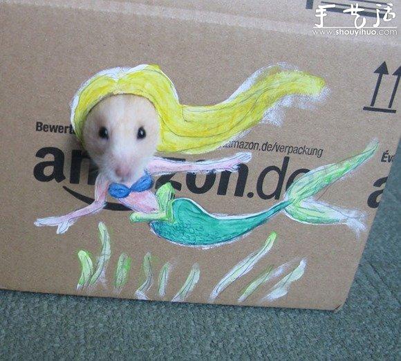 创意手绘实现仓鼠的奇幻梦想
