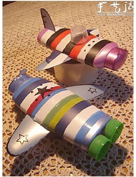 洗发水或浴液瓶子DIY飞机