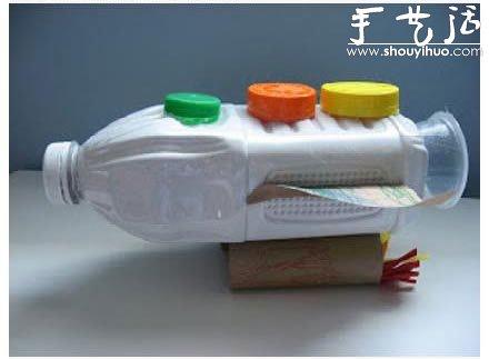 牛奶瓶/塑料瓶手工制作航天飞机