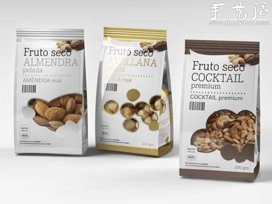fruto seco坚果类包装设计欣赏图片