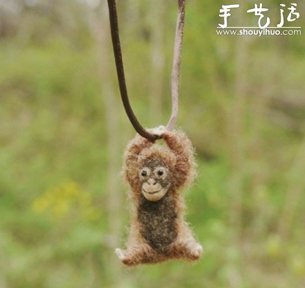 羊毛毡手工制作荡秋千的小动物(3)