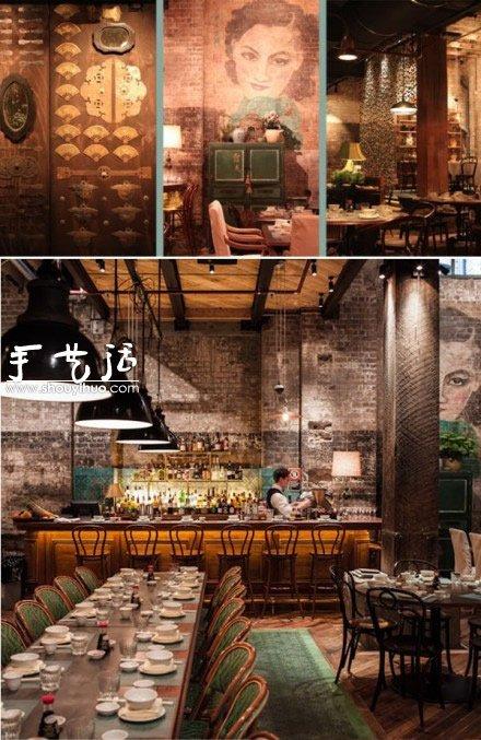 老上海风格的餐厅装修 手艺活网