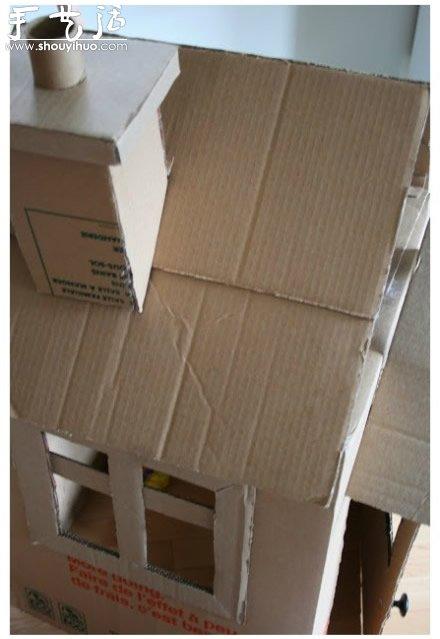 好玩的纸板箱房子手工diy