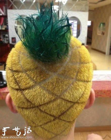 霸气侧漏的菠萝头发型设计 手艺活网