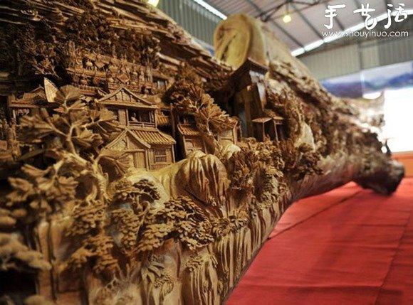 世界上最长的手工木雕