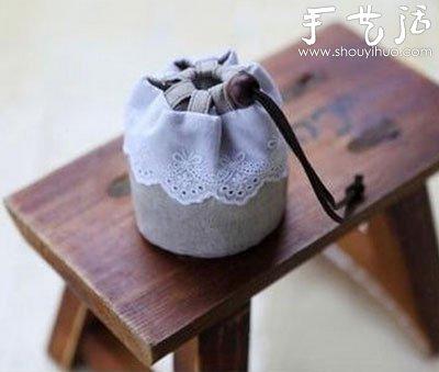 桶形束口袋手工制作教程