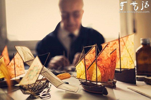 83岁老人手工制作的飞船模型(2)
