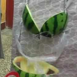 西瓜皮DIY的内衣套装