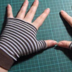 棉袜子DIY漂亮的手套