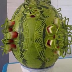 精美的西瓜雕刻作品