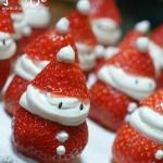 草莓奶油的俏皮组合 超萌圣诞老人DIY
