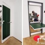 带有乒乓球桌功能的门板
