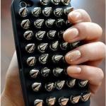 DIY朋克铆钉手机壳