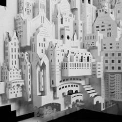 Ingrid Siliakus剪纸模型艺术作品