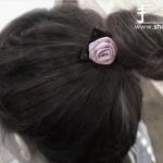 教你如何制作玫瑰花发绳发饰