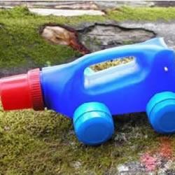 洗衣液塑料瓶手工DIY运输卡车