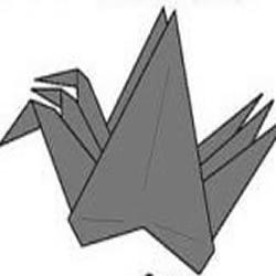 千纸鹤的折法图解 一次折出3只千纸鹤
