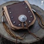少数民族风包包装饰银扣DIY教程