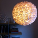 DIY浪漫蛋糕纸杯球型灯的教程