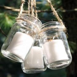 玻璃瓶手工DIY悬挂烛台等教程