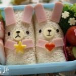 可爱小白兔便当DIY教程