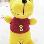 袜子DIY可爱小熊玩偶的手工教程