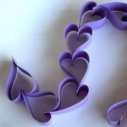 纸艺DIY心形挂饰的方法
