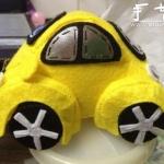 手工布艺作品:可爱的甲壳虫汽车