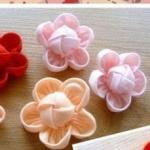 不织布制作小清新花朵的手工布艺教程