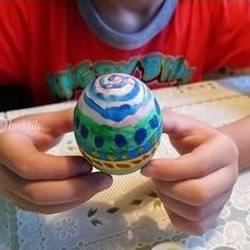 幼儿手工——鸡蛋或鸭蛋绘制艺术彩蛋