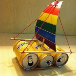 易拉罐DIY帆船的教程