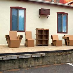 瓦楞纸板制作的家具欣赏