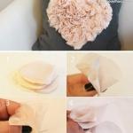 雪纺布手工DIY心形图案的教程