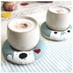 日本hokkori甜甜圈布艺杯垫