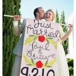 DIY婚礼小旗帜作为装饰横幅