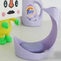废弃的洗衣液空瓶手工DIY肥皂盒