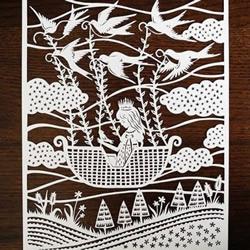 Sarah Trumbauer剪纸图案欣赏