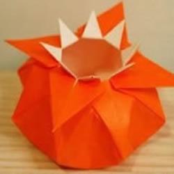 漂亮八角花瓶的手工折纸DIY教程