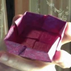 韩版纸盒玫瑰的折纸教程