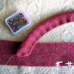 不织布手工DIY韩国风装饰小花的教程