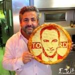 披萨上的名人肖像创意