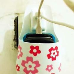 环保小制作:洗发水瓶DIY手机充电盒