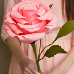 剪纸制作超逼真玫瑰花的教程
