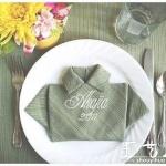 餐巾布创意折叠衣服形状的教程