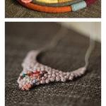 钩针制作的精美手链和项链作品欣赏