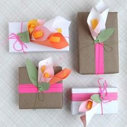 包装盒装饰纸花的制作教程