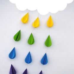 漂亮的云朵小雨纸艺教程