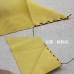 不织布制作漂亮发卡的手工方法