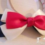 漂亮蝴蝶结的手工布艺制作